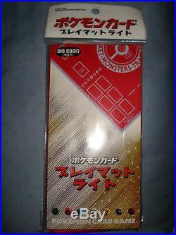 Pokemon Card Game japanese VINTAGE red cloth playmat SEALED pocket monster