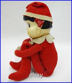 RARE Peko-chan Fujiya 1960's doll vintage red Santa Peko chan Japanese antique