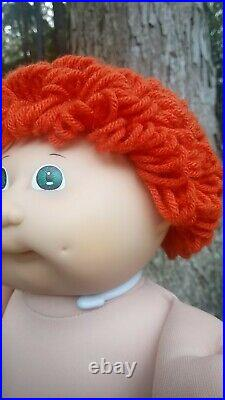 RARE Tsukuda Japanese VintageRed FuzzieCabbage Patch Kids Boy Doll Pacifier