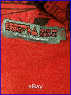 RARE XL Japanese Vintage 2003 Red Tezuka Astroboy Full Zip Hoodie