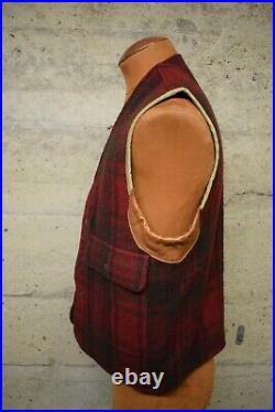 Ralph Lauren Vintage Style Wool Hunting Vest Japanese Fabric Beautiful