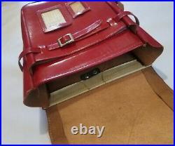 Randoseru Japanese Red Leather- School Bag Backpack Vintage Japan Cosplay Rare