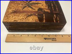 Rare Vintage Exquisite Japanese Bark Cherry Kabazaiku Box with Bamboo Design