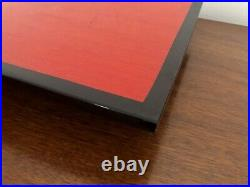 Rare Vintage RED Black Lacquer Wood Japanese Tea CEREMONY Tray