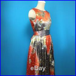 Rare sakura Aline dress made from vintage silk Japanese kimono Anthropology 6 S