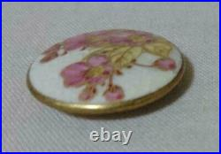 Satsuma Button Cherry Blossom Japanese traditional craft Vintage 27mm used