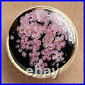 Satsuma Buttons Japanese Vintage Diameter 20mm H 8mm Pottery Weeping Cherry Tree