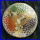Satsuma Buttons Japanese Vintage red green diameter 25mm x H 8mm Pottery rare