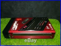 Sony Walkman WM-F202 Red Black Antique Vintage Japanese Music Player HQ (OO263)