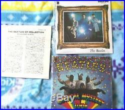THE BEATLES E. P. Japanese Red Vinyl Mono Box Set with (4) Rare Vintage Books & Tie