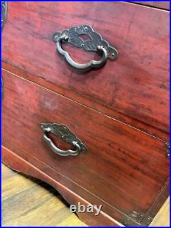Tansu Japanese Vintage Chest Dansu Storage From Japan USED Wine Red Rare