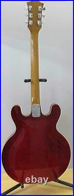 USED Japanese Vintage RARE GRECO EG-135 Hollow Body see-through Red 60's JPN