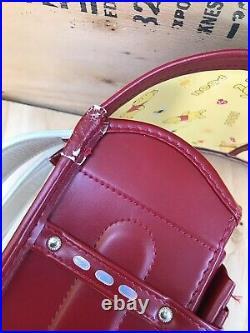 VTG Randoseru Disney Winnie The Pooh Japanese School Bag Backpack Red Japan Rare