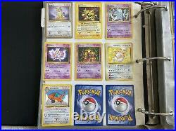 Very rare vintage pokemon card lot 90+ Holos with 1st Editions