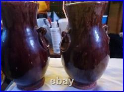 Vintage 1940 Japanese Banko Red-ware Vase