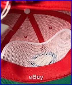 Vintage 1980's Japanese Baseball Hiroshima Toyo Carp Adjustable Hat Large NWT