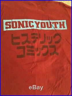 Vintage 1990s Sonic Youth T Shirt XL Astronauts Japanese F/S rare