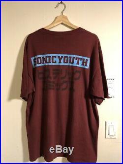 Vintage 1992 Sonic Youth T Shirt XL Astronauts Japanese 90s F/S rare Kurt Cobain