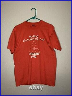 Vintage 80s Japanese Motors Mitsubishi T shirt XL Single stitch nascar tee