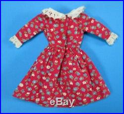 Vintage Barbie JAPANESE EXCLUSIVE Cranberry Red Dress with Lace Trim