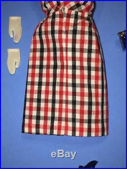 Vintage Barbie Japanese Exclusive 2604 Red White Plaid Dress Shoes Purse Gloves