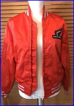 Vintage HONDA Zip Front Jacket, Japanese Red Size Medium