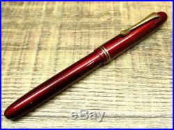 Vintage Handmade Japanese Red Lacquer Urushi Fountain Pen 14K pre-owned Unused