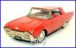Vintage Japanese 1961 Ford T-bird Tin Friction Red Coupe