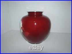 Vintage Japanese Ando Red Globular Cloisonne Vase 629