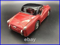 Vintage Japanese Bandai Triumph TR3 Tinplate 1/20 Scale. Rare