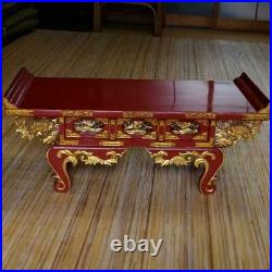 Vintage Japanese Buddhist Altar Wood Stand Table red Gorgeous and spectacular