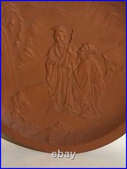 Vintage Japanese Ceramic Pottery Charger 1920s Impressed Mark A. A. Vantine 12.5