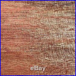 Vintage Japanese Grasscloth Wallpaper Red Hand Dyed Handmade Gold Foil Backing