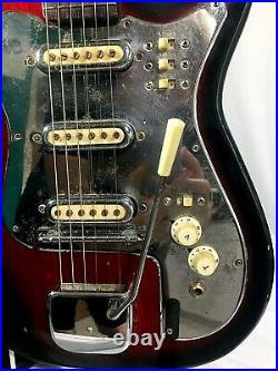 Vintage Japanese Guitar Fujigen Gakki Segova 1965 with cool case. Parts/Repair
