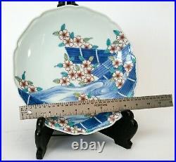 Vintage Japanese Handpainted Imari Platter, Cherry Blossom Fukayana 10