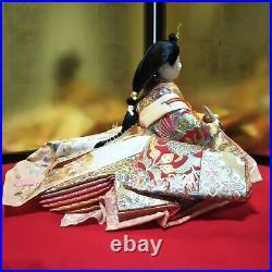 Vintage Japanese Hina doll in Kimono Geisha Figure Emperor doll EXCELLENT BIG