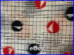 Vintage Japanese Kimono Haori Jacket Meisen Silk dot red black check