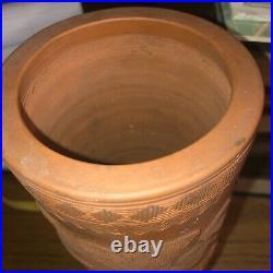 Vintage Japanese Meiji Tokoname Dragon Red Redware Vase 9.75 Elisha Camp Estate