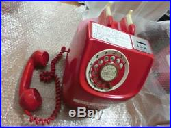 Vintage Japanese Publlic Payphone 10 Yen Red savings box dial phone Fast/S