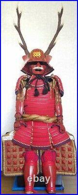 Vintage Japanese Samurai Armor Kabuto Yoroi Life Size Japan Antique With Box