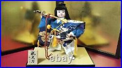 Vintage Japanese Samurai Warrior doll sword on wooden base Figure Plush