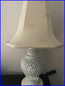 Vintage Japanese Seyei Cherry Blossom Lamp Restored Nightlight + New Shade