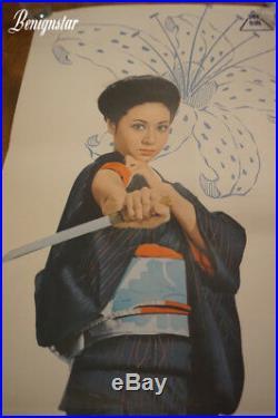 Vintage Japanese The Red Silk Gambler 1972 Reiko Ike B4 Film Poster