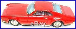 Vintage Japanese Tin Friction1960's Oldsmobile Toronado Red Coupe