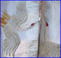 Vintage Japanese Wedding Kimono Robe Uchikake Silver, Gold, and Red