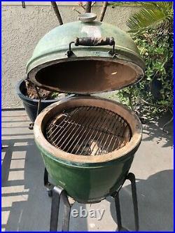Vintage Japanese kamado hibachi ceramic grill smoker barbeque