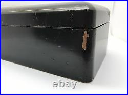 Vintage Large Japanese Lacquer Box with Cranes Cherry Blossoms (RF-FR6)