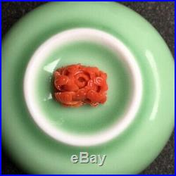 Vintage Natural Japanese Aka Coral Un-dyed Ox-Blood Red for Ring/ Pendant