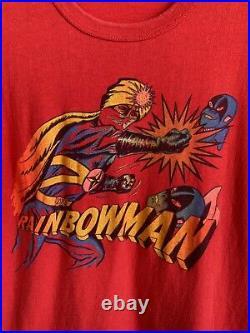Vintage Rainbowman Warrior Of Love 70s Japanese TV Show Men's S Red T Shirt