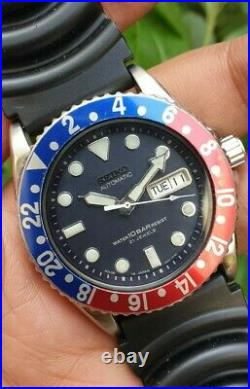 Vintage Seiko Diver Automatic Ref No 7s26 0020 Pepsi Bezel Japanese Watch